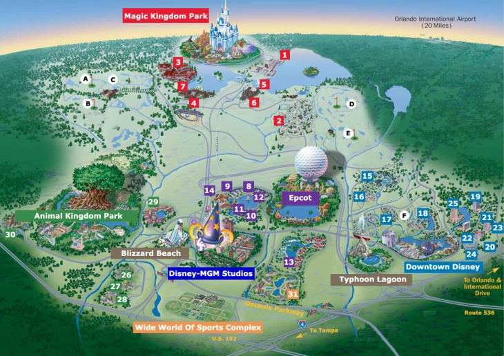Disney-World-Orlando-Map